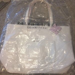 White Le Sac Tote by Ralph Lauren